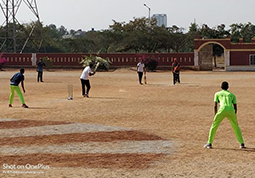 Friendly Cricket Match between Sakra Team and KSRP Police Team