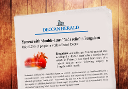 Yemeni with 'double – heart' finds relief in Bengalur