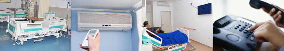 Sakra Hospital Accomodation  - Semi private rooms with amenities for international patients