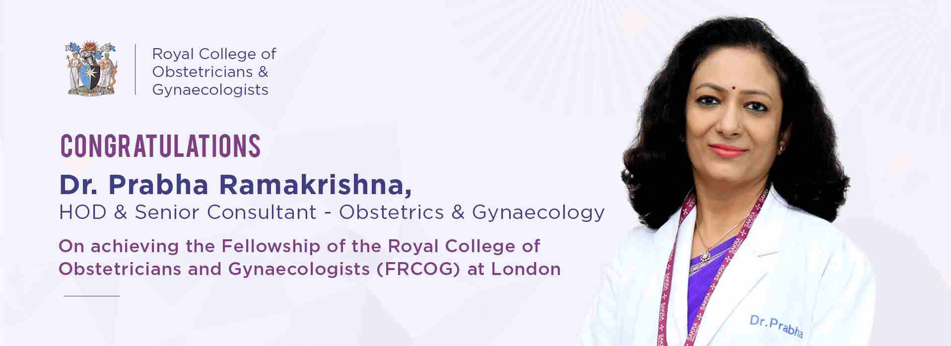 Dr. Prabha Ramakrishna is a Senior Consultant and Head in Obstetrics and Gynaecology at Sakra World Hospital in Bangalore